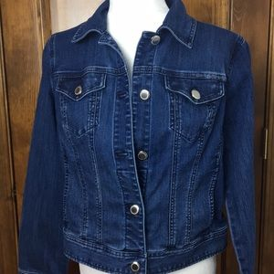Chico's Denim Jean Jacket Size 1
